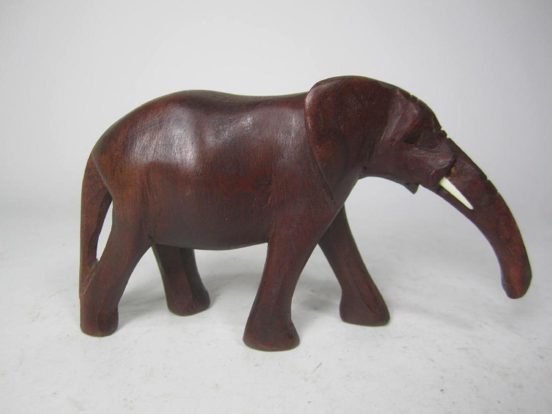 HAND CARVED KENYA WOODEN ELEPHANT