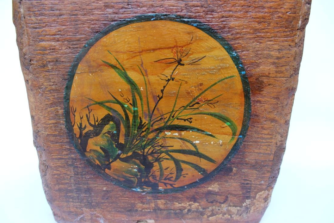 ANTIQUE CHINESE WOOD DOU - 4