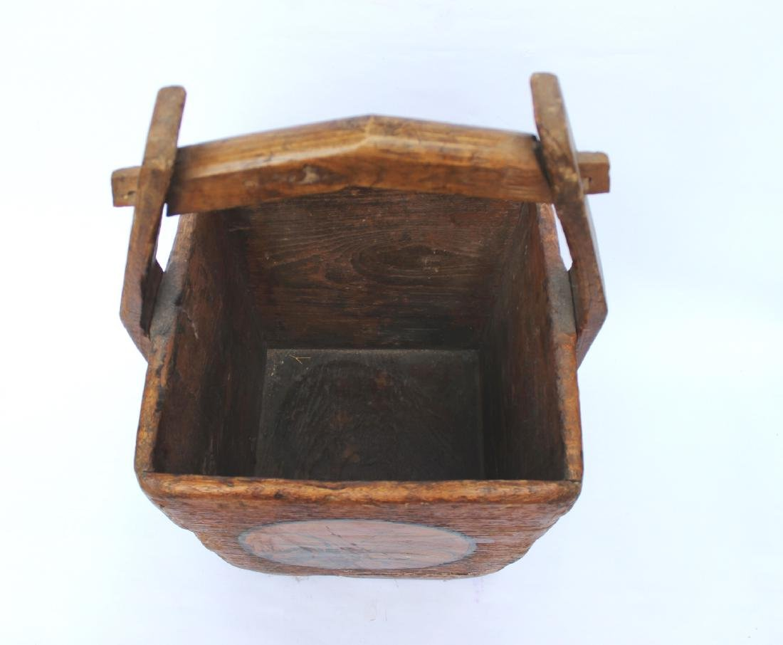 ANTIQUE CHINESE WOOD DOU - 5