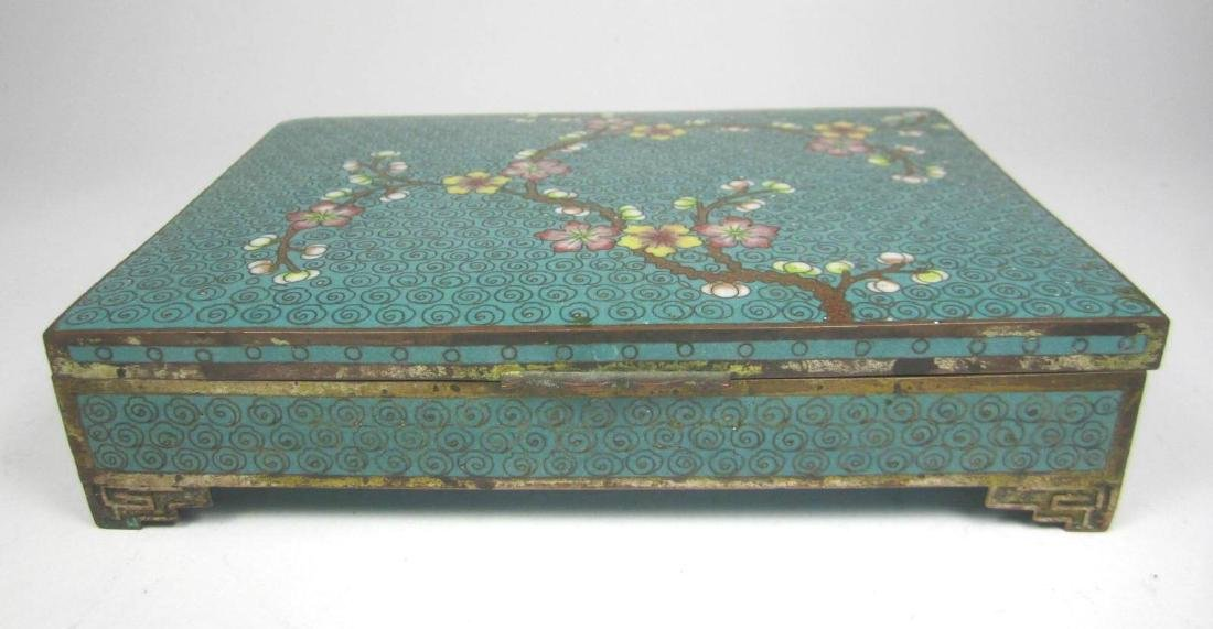 CHINESE CLOISONNE SQUARE JEWELRY BOX