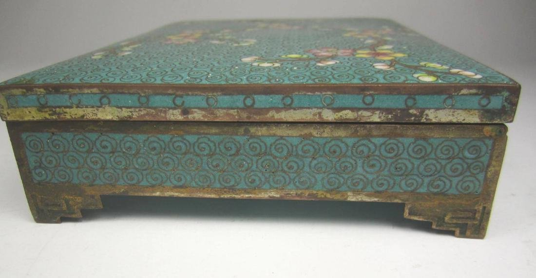 CHINESE CLOISONNE SQUARE JEWELRY BOX - 3
