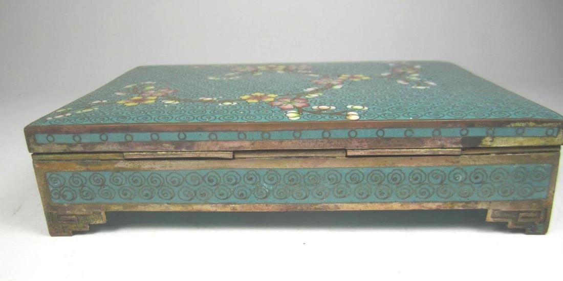 CHINESE CLOISONNE SQUARE JEWELRY BOX - 4