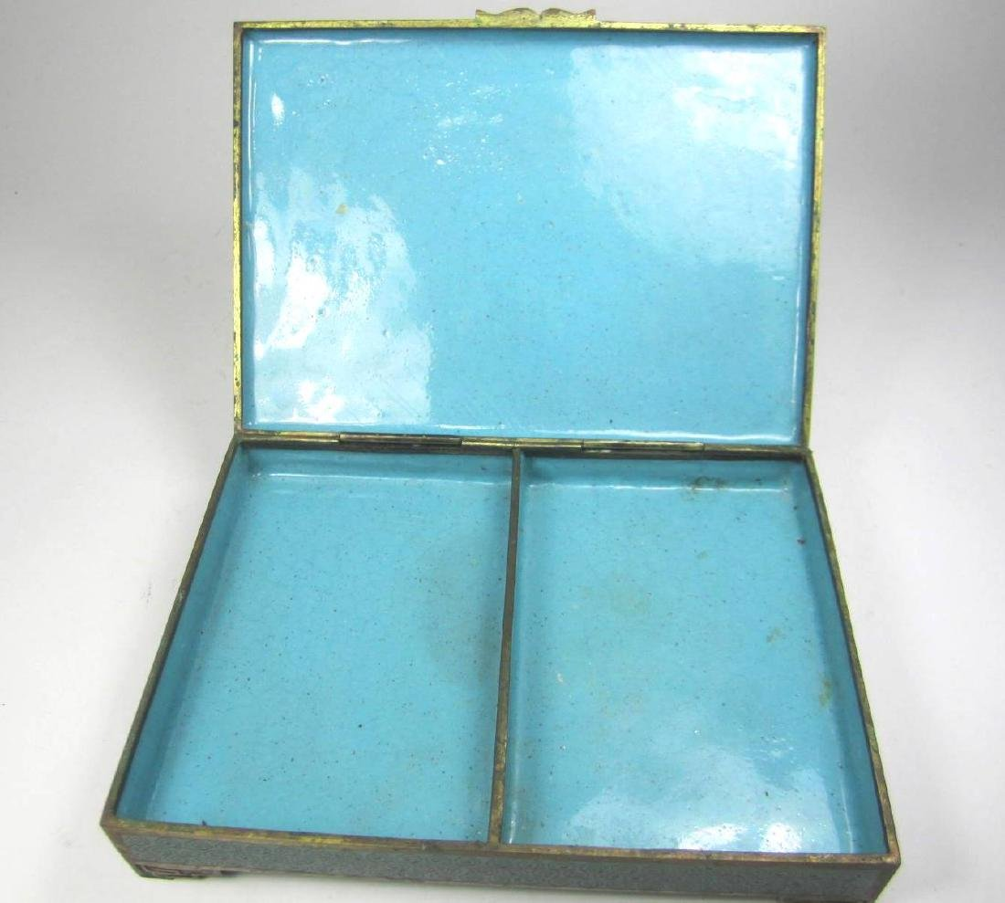 CHINESE CLOISONNE SQUARE JEWELRY BOX - 6