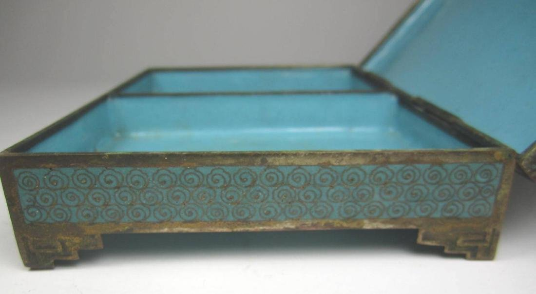 CHINESE CLOISONNE SQUARE JEWELRY BOX - 8