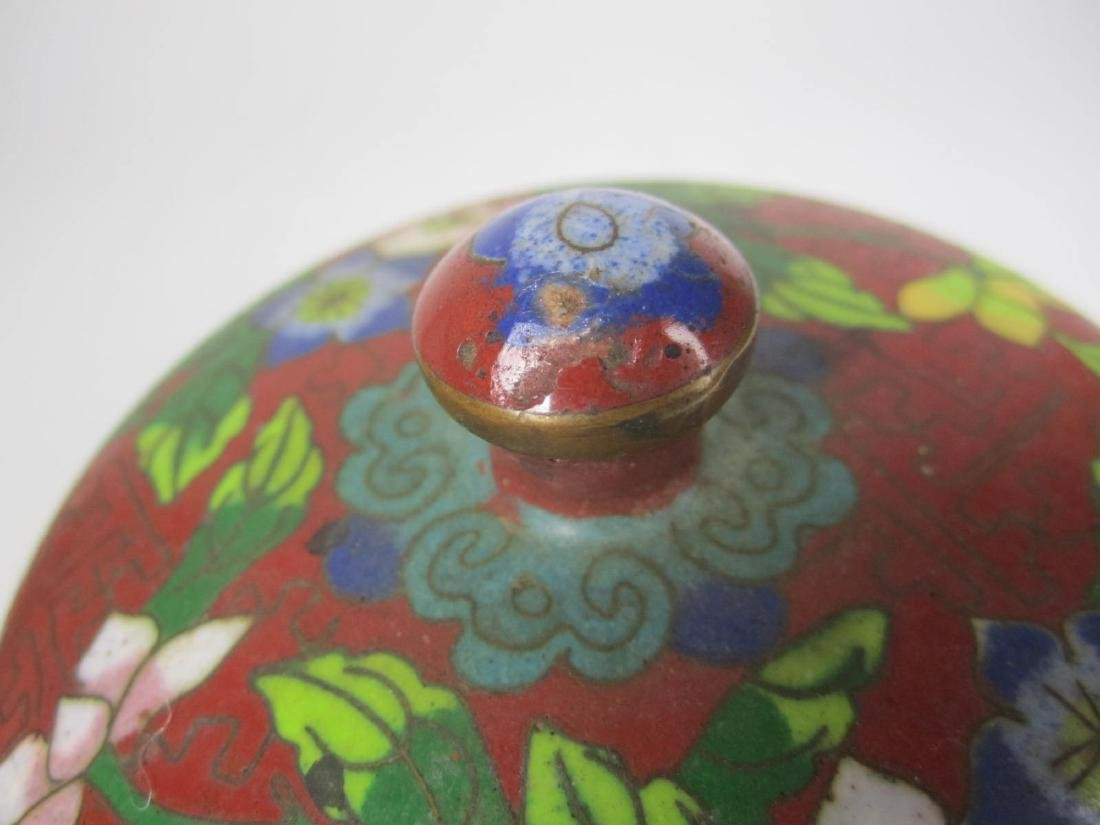 CHINESE CLOISONNE LIDDED BOW;L - 6