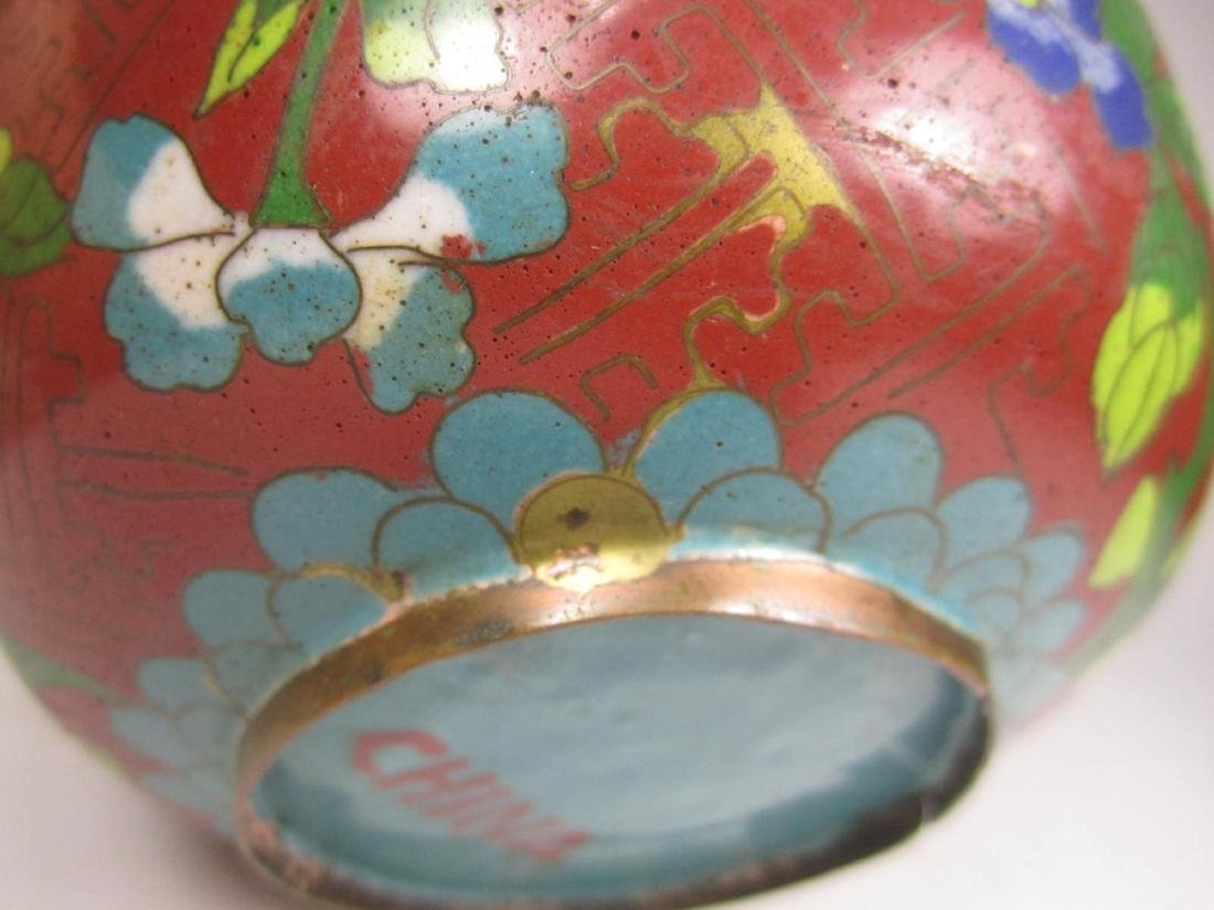 CHINESE CLOISONNE LIDDED BOW;L - 7