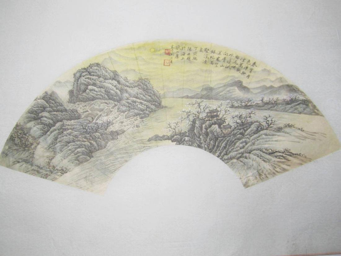 CHINESE WATERCOLOR PAINTING FAN