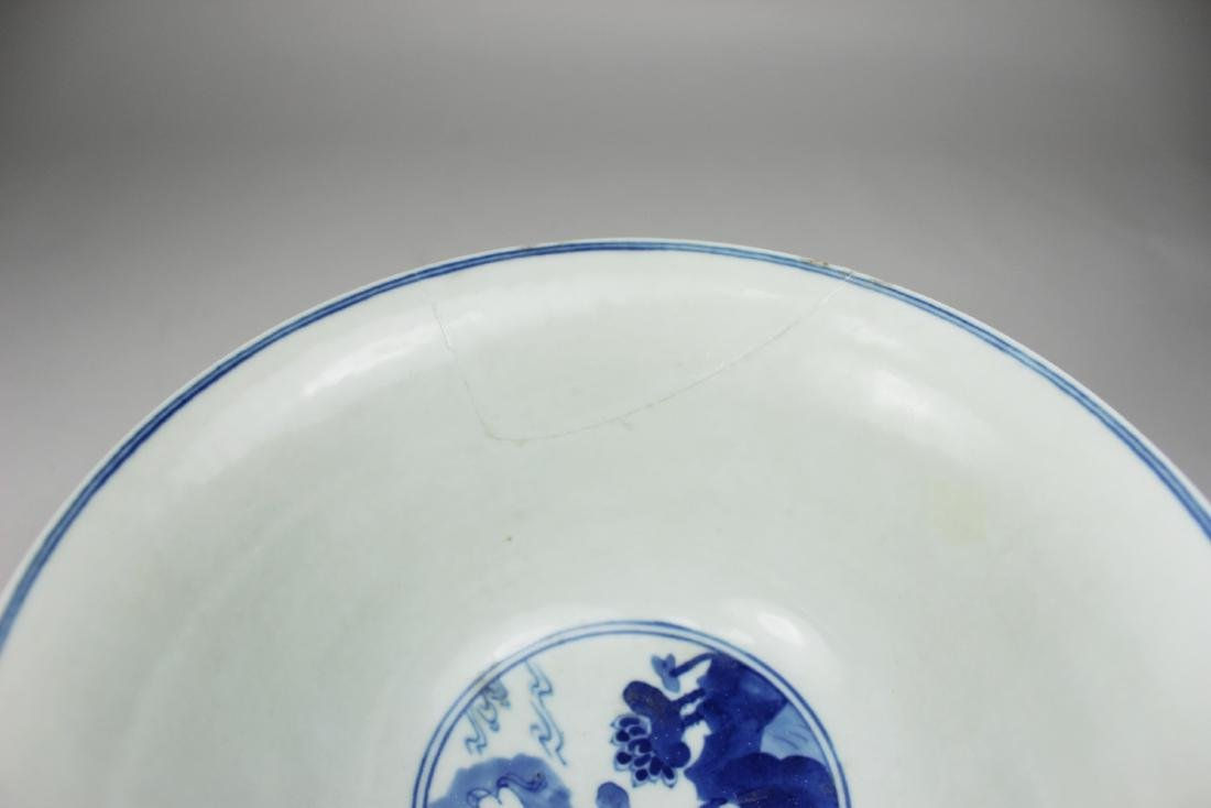 CHINESE BLUE AND WHITE BOWL - 7