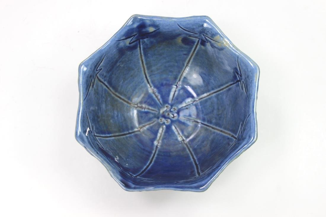 CHINESE BLUE GLAZE BOWL - 2