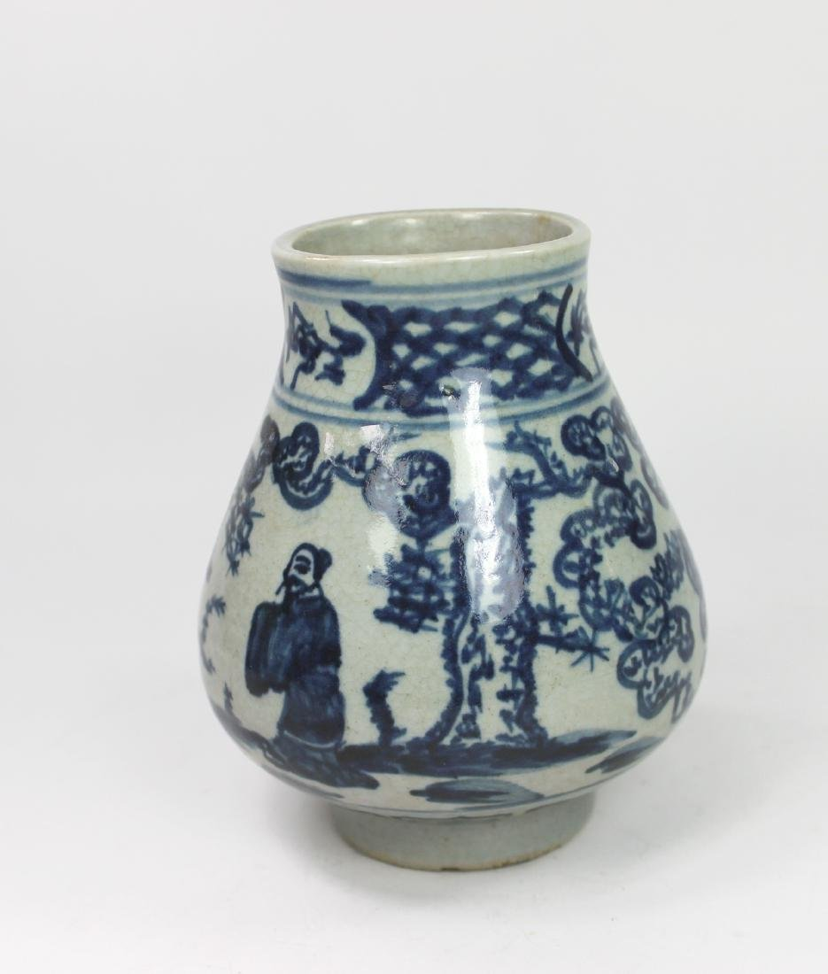 CHINESE BLUE AND WHITE ZUN - 2