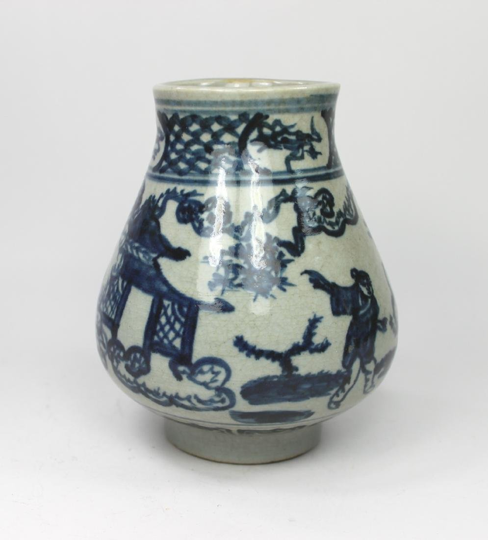 CHINESE BLUE AND WHITE ZUN - 7
