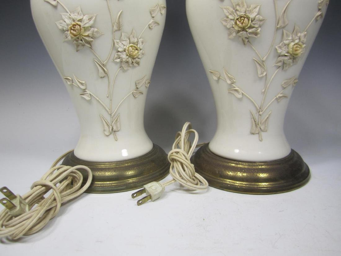 PAIR OF CHINESE WHITE PORCELAIN TABLE LAMPS - 6