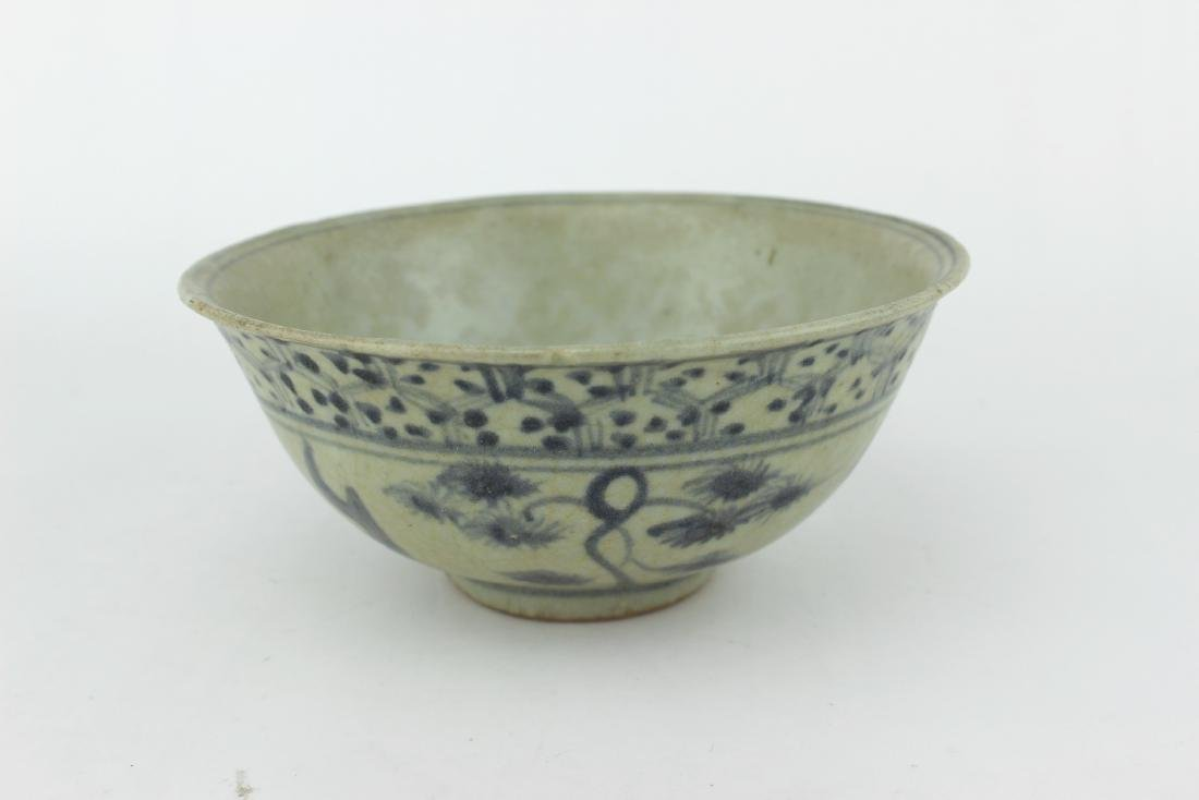 CHINESE BLUE & WHITE BOWL
