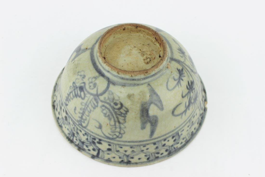 CHINESE BLUE & WHITE BOWL - 3