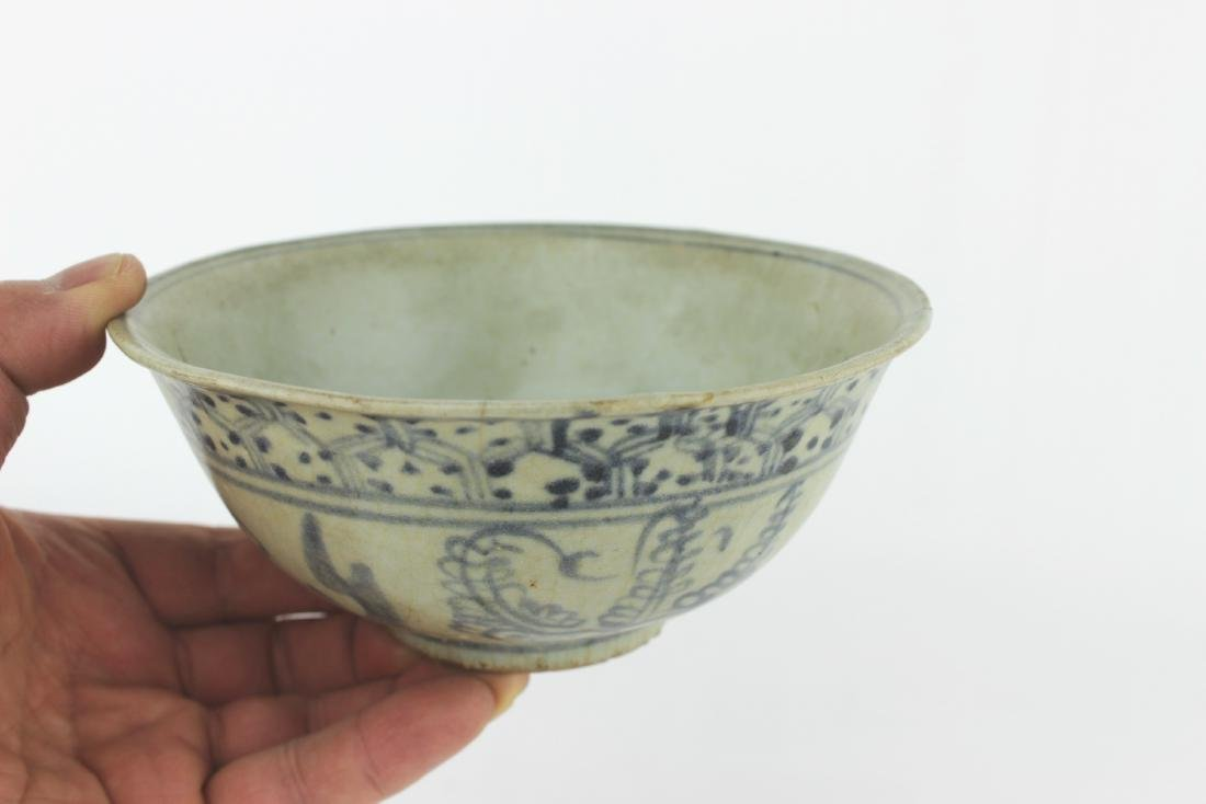 CHINESE BLUE & WHITE BOWL - 4