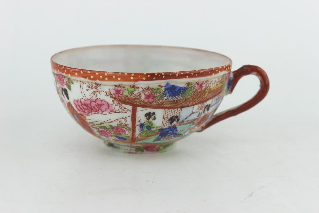 A JAPANESE EGG SHELL IMARI TEA CUP