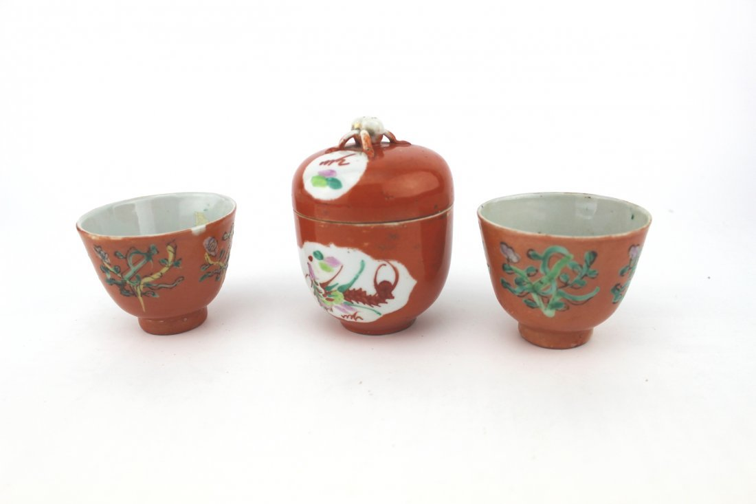 CHINESE FAMILLE ROSE TEASET