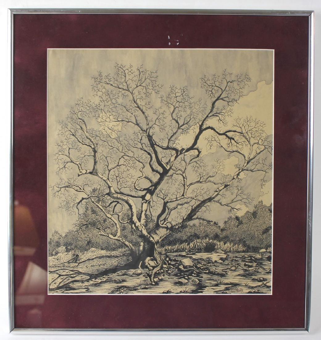 "D. NOKE ""TREE"" LITHOGRAPH"