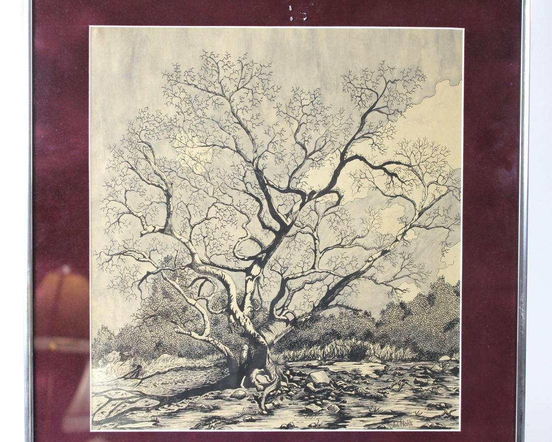 "D. NOKE ""TREE"" LITHOGRAPH - 2"