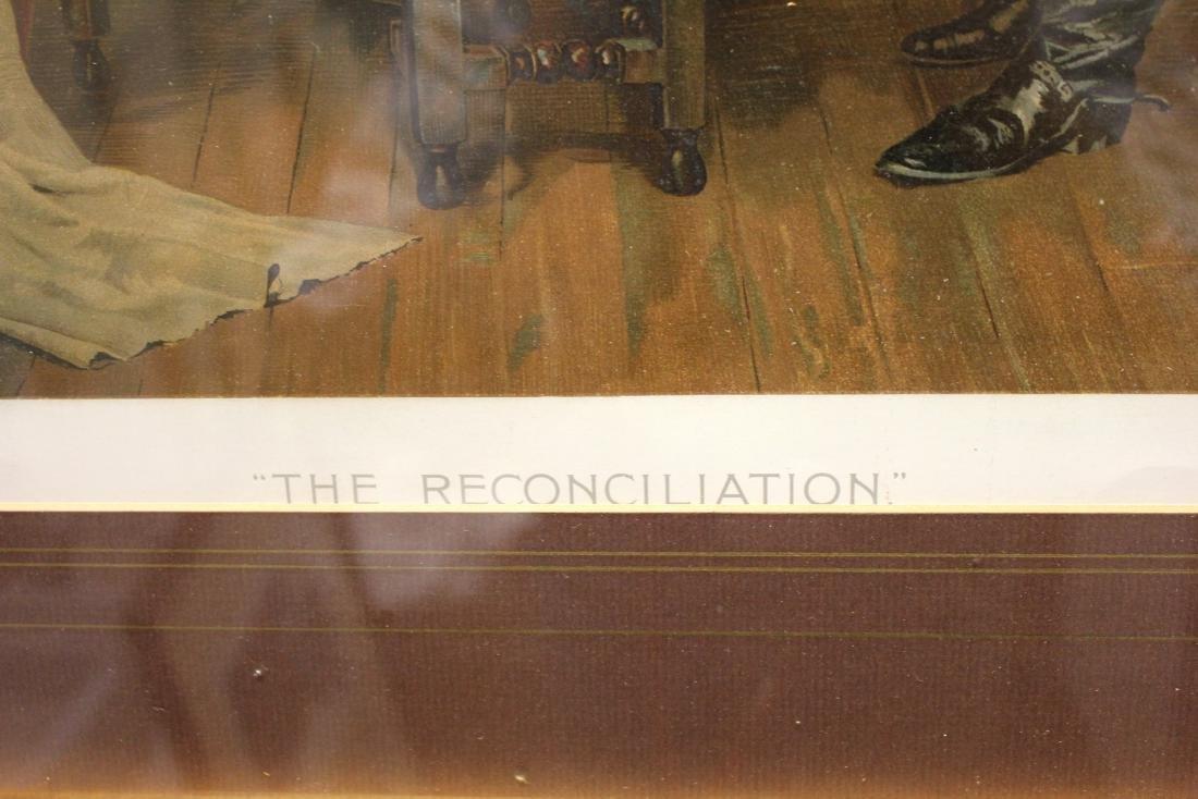 """JOHN A. LOMAX, """"THE RECONCILIATION"""", LITHOGRAPH - 3"""