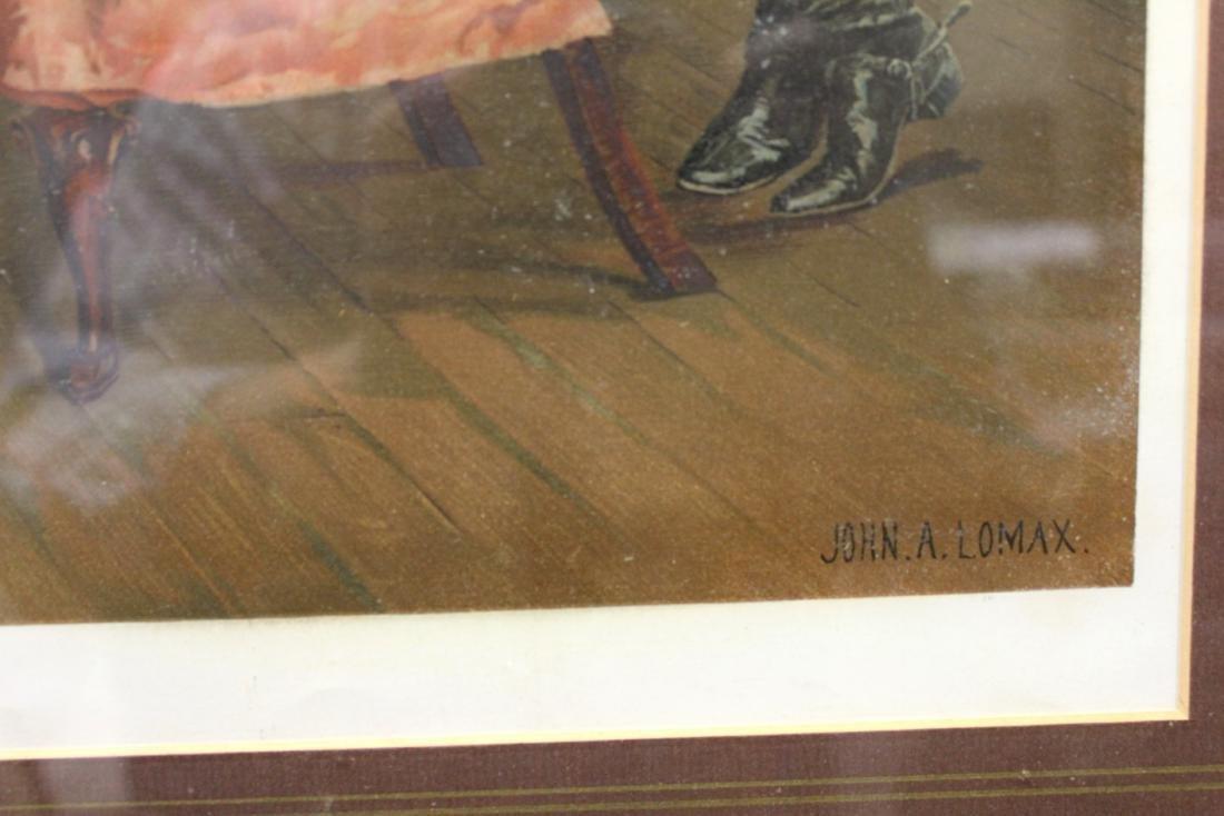 """JOHN A. LOMAX, """"THE RECONCILIATION"""", LITHOGRAPH - 4"""