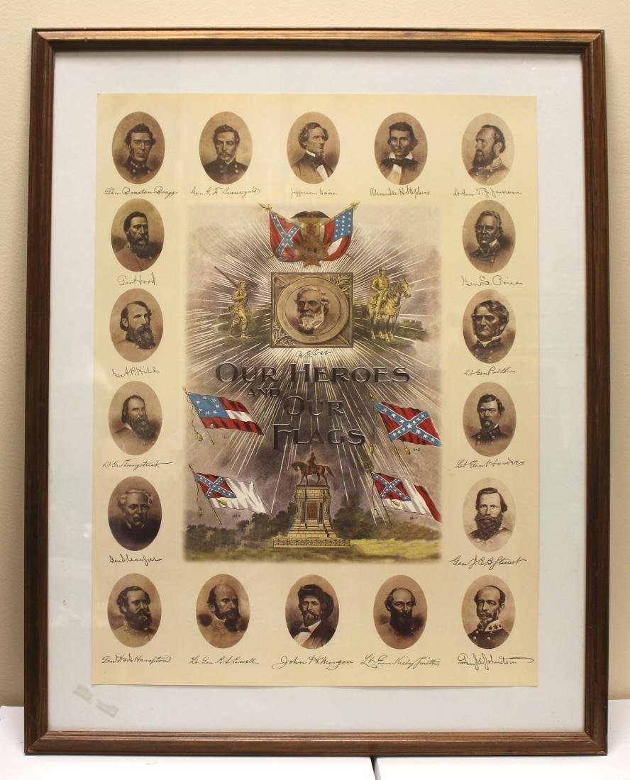 """""""OUR HEROES AND OUR FLAGS"""" LITHOGRAPH"""