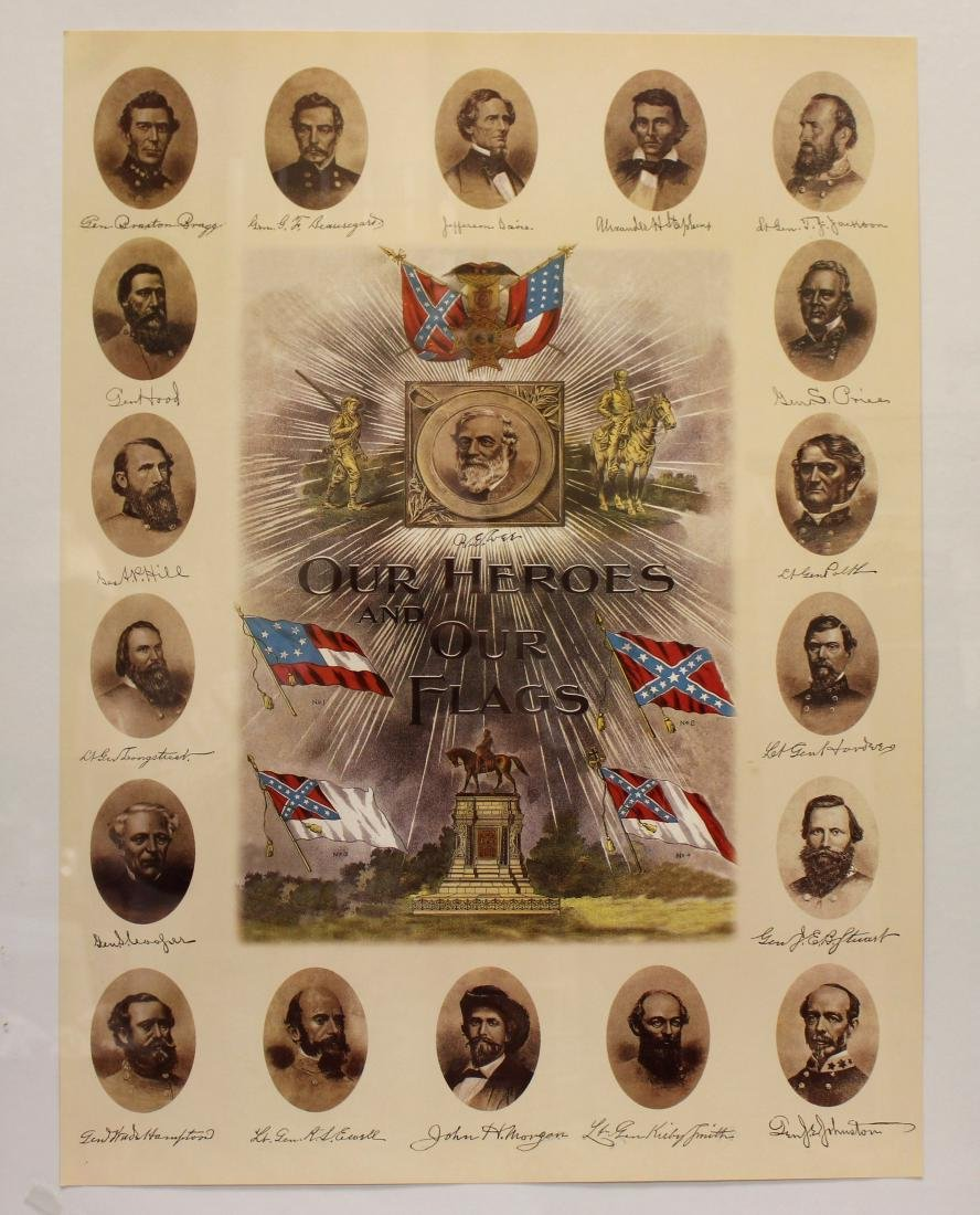 """""""OUR HEROES AND OUR FLAGS"""" LITHOGRAPH - 2"""