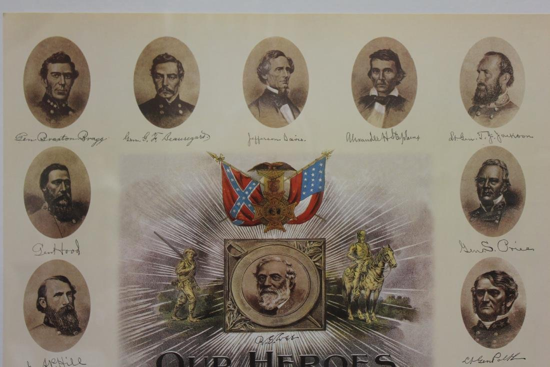 """""""OUR HEROES AND OUR FLAGS"""" LITHOGRAPH - 3"""