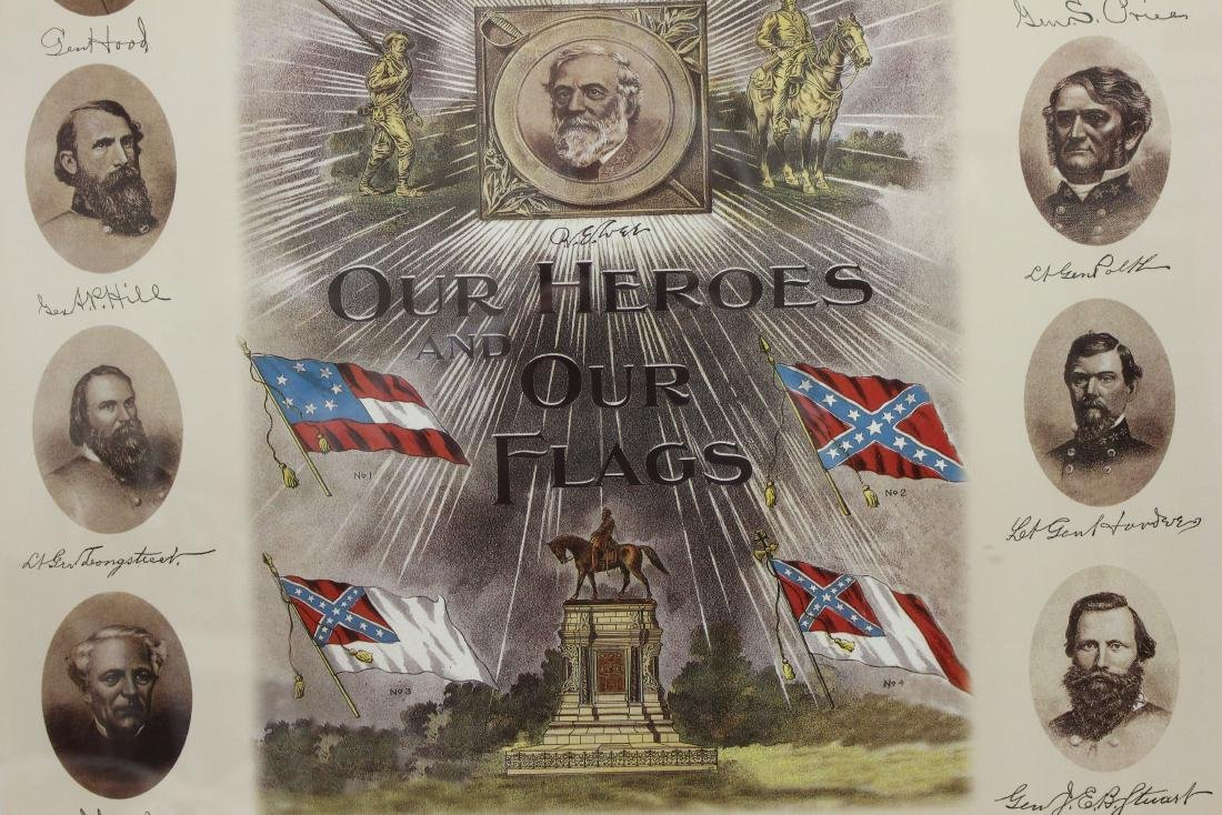 """""""OUR HEROES AND OUR FLAGS"""" LITHOGRAPH - 4"""