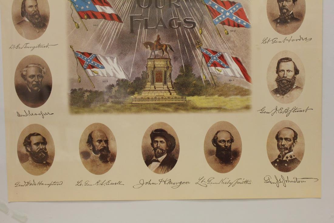 """""""OUR HEROES AND OUR FLAGS"""" LITHOGRAPH - 5"""