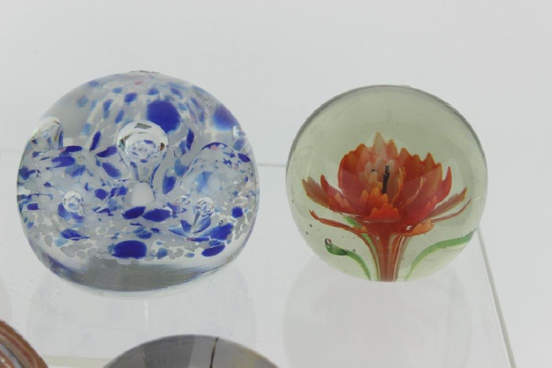 SEVEN ASSORTED GLASS PAPERWEIGHTS - 4