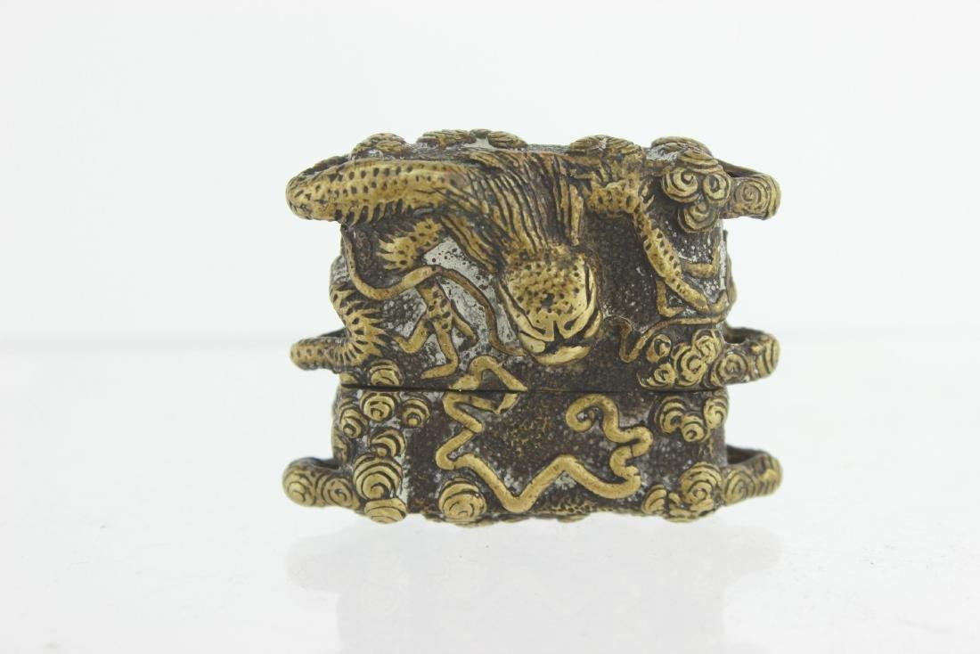 CHINESE BRONZE DRAGON BOX