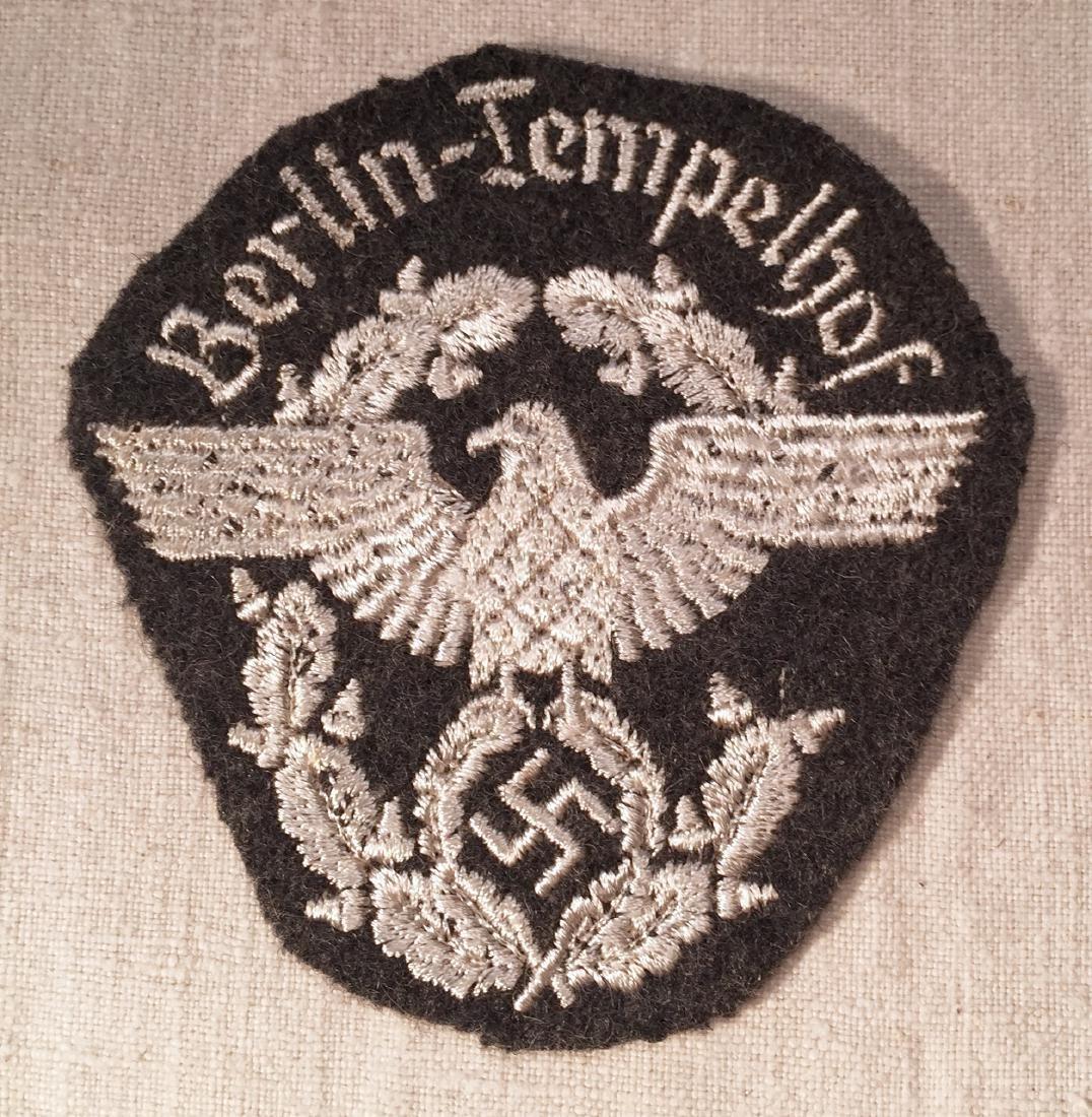 German Nazi WWII Police Arm Badge