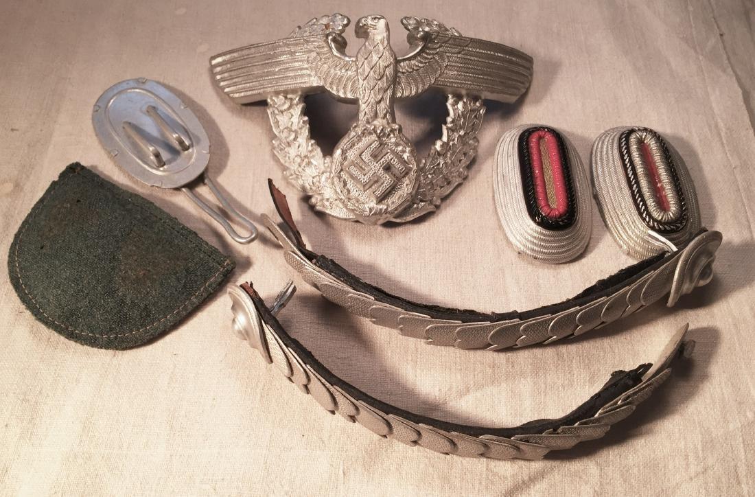 German WWII Nazi Shako Police Hat Elements