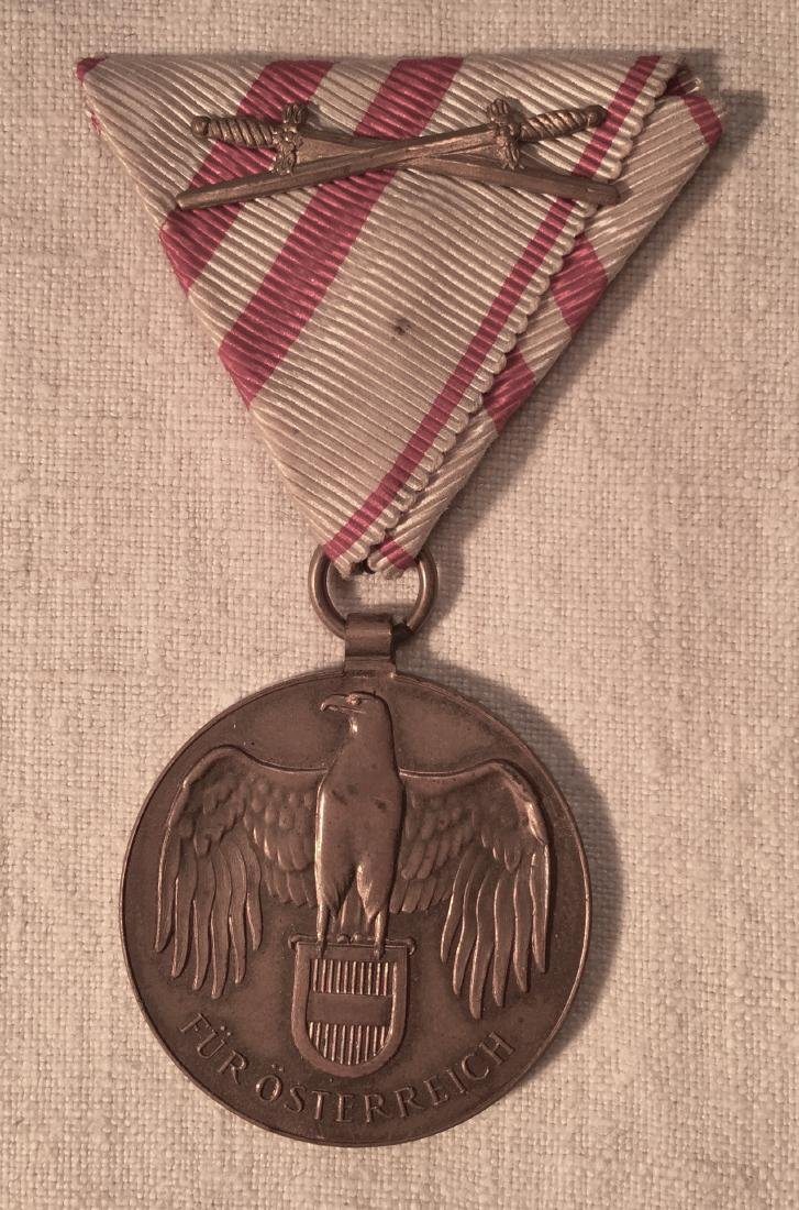 WWI Medal For Austria with Ribbon