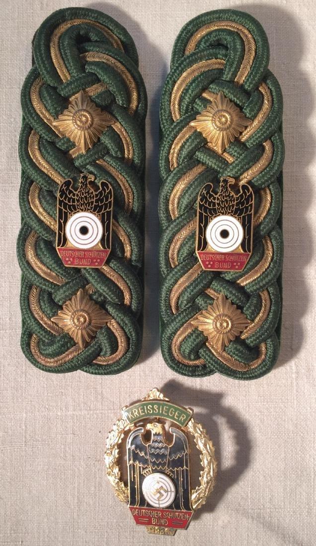 1936 German Marksman's Badge Shoulder Boards
