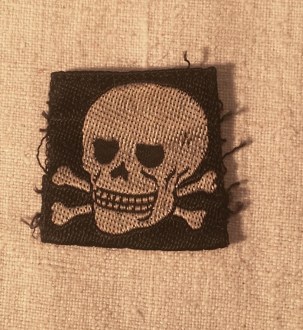 German WWII SS Skull Patch Nazi