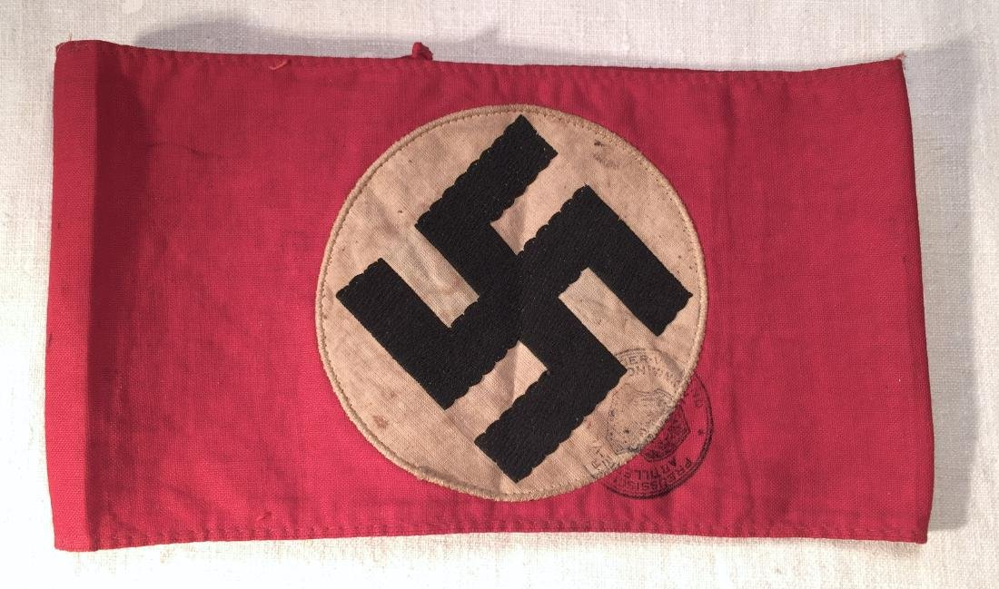 WWII Nazi Armband Prussian Artillerie Stamp
