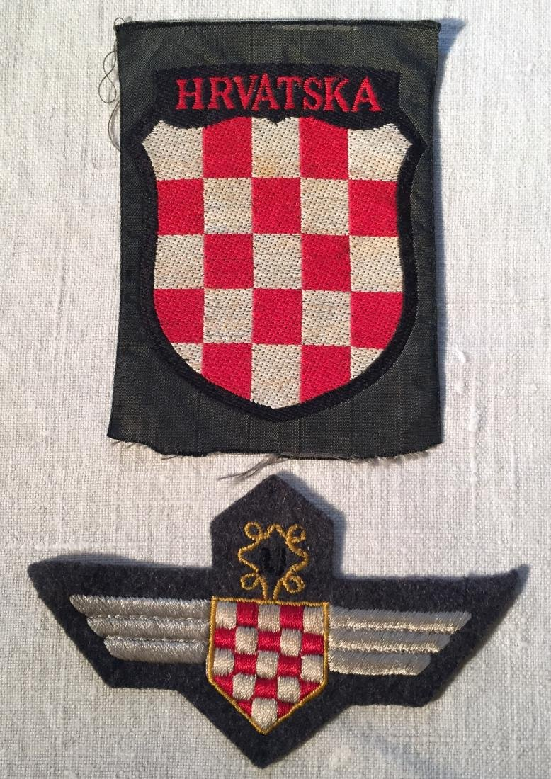 German WWII Croatian Volunteer Badges
