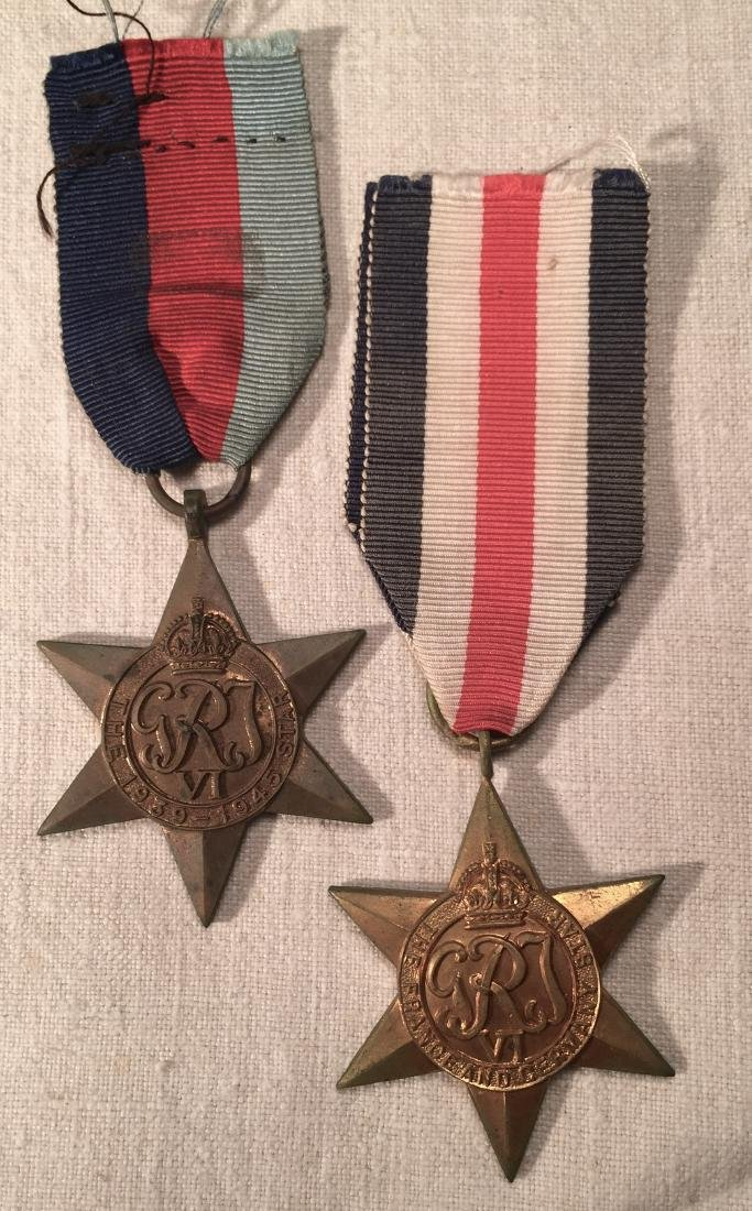 WWII British France & Germany Star Medals