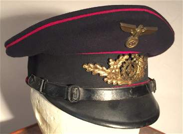German WWII Nazi TeNo Officer Dress Visor