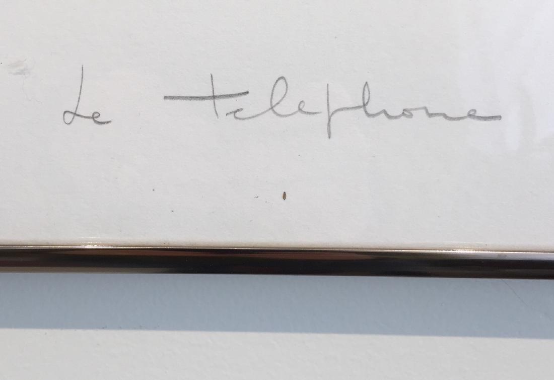 Lionel Chauve Print Titled Le Telephone - 3