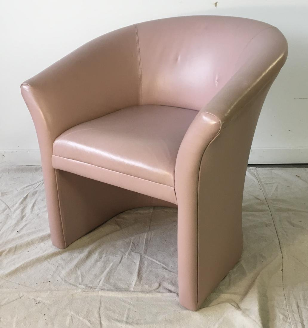Vintage Pink Barrel Chair