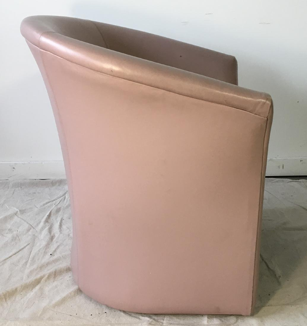 Vintage Pink Barrel Chair - 2