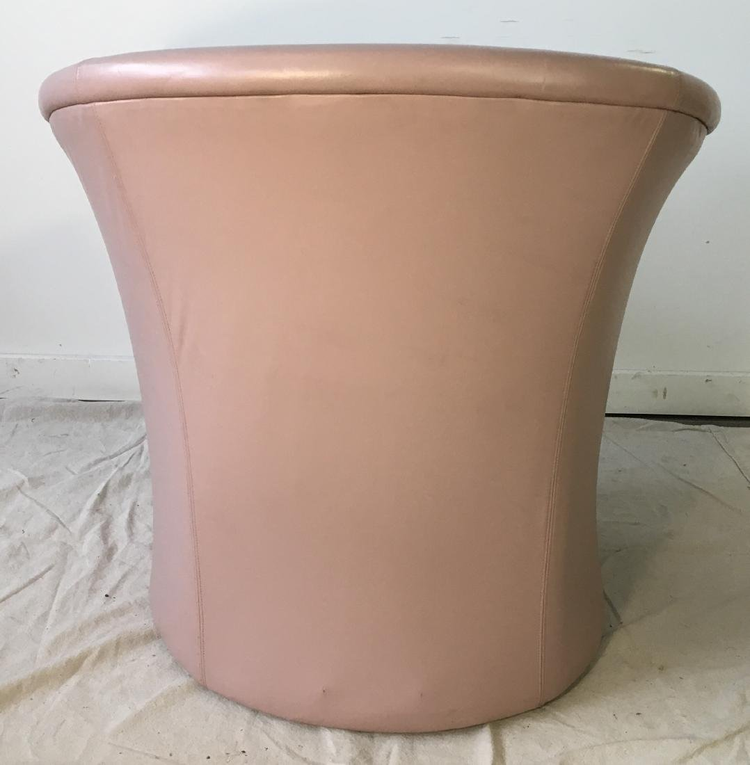 Vintage Pink Barrel Chair - 3