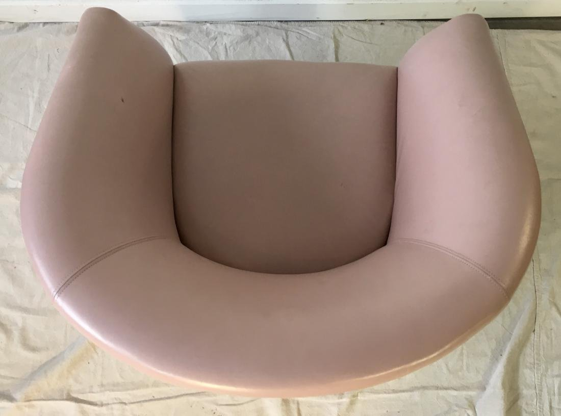 Vintage Pink Barrel Chair - 4