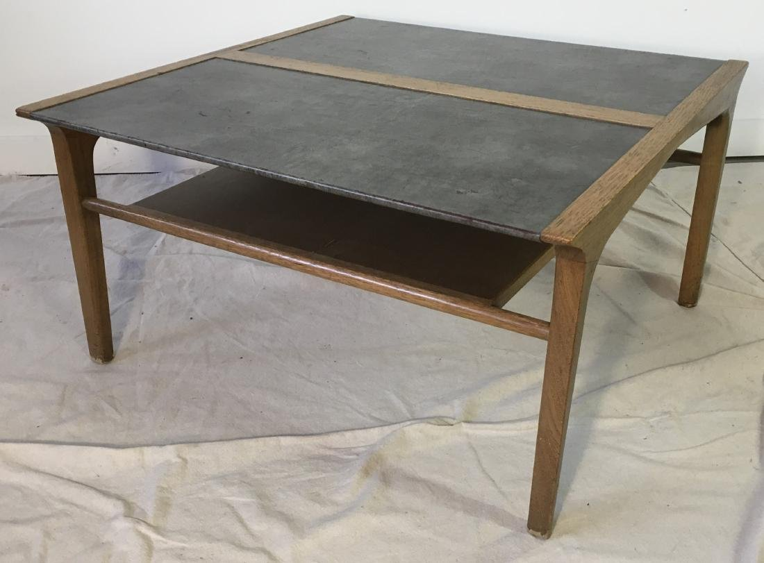 Drexel Leather Top Coffee Table