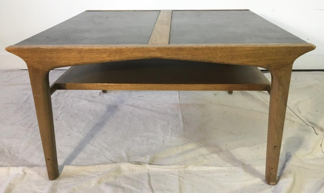 Drexel Leather Top Coffee Table - 2