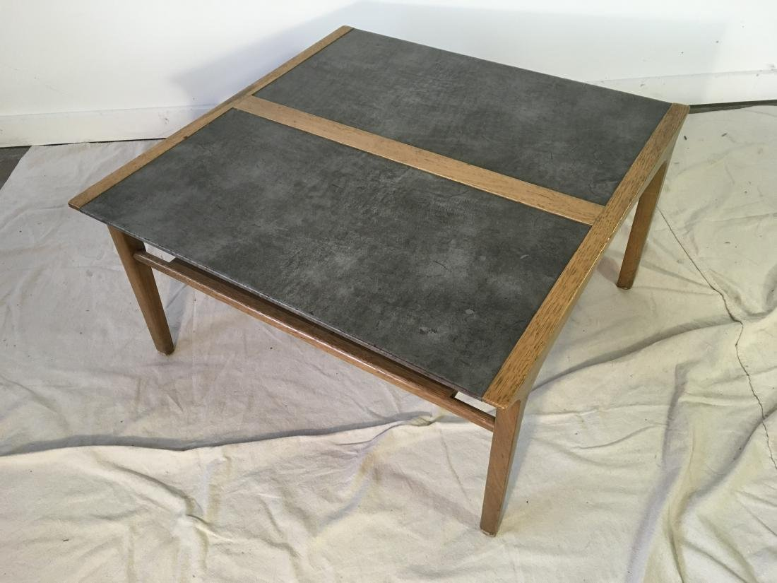 Drexel Leather Top Coffee Table - 5