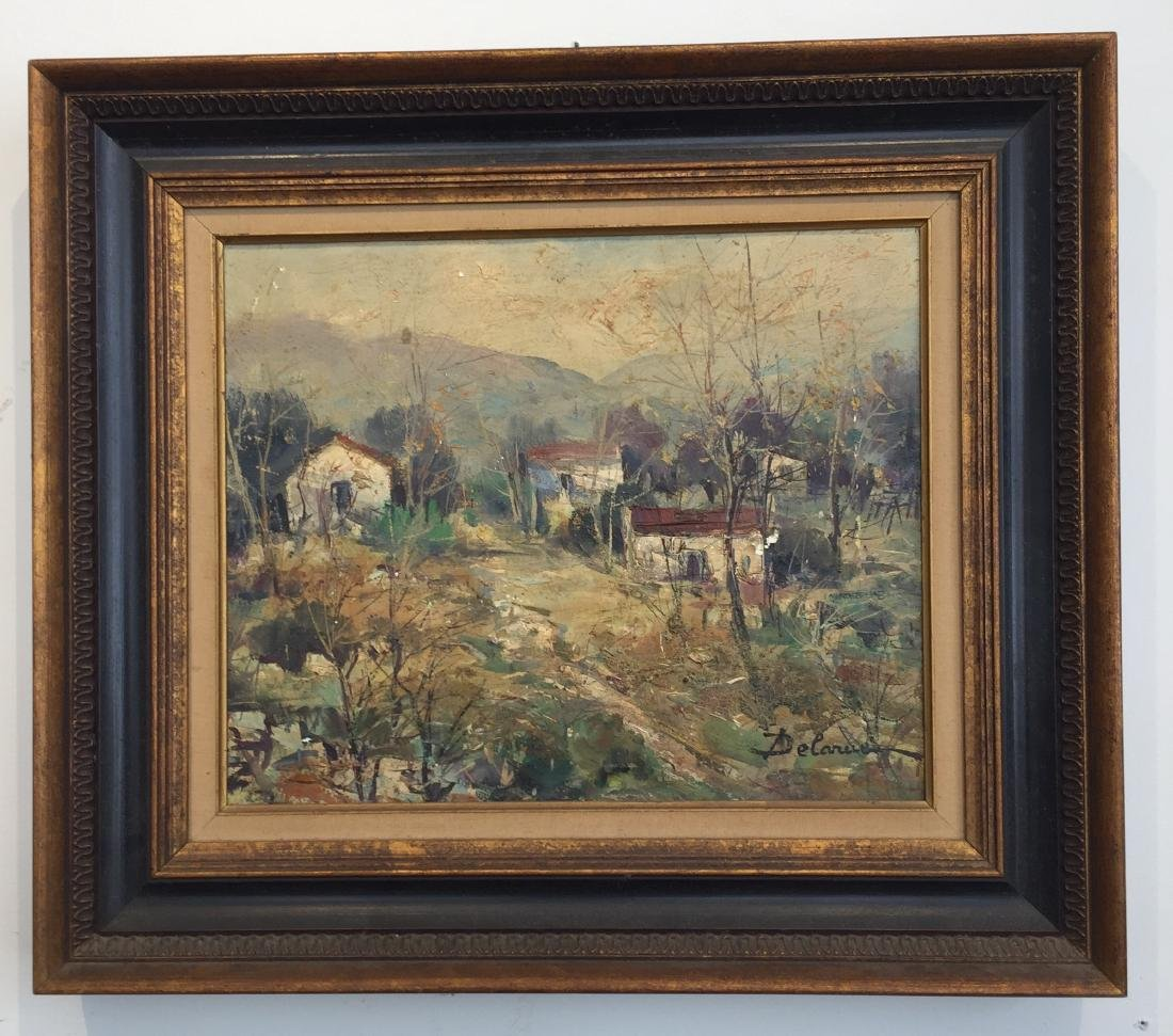Lucien Delarue (1925-2011) Oil Painting in Frame